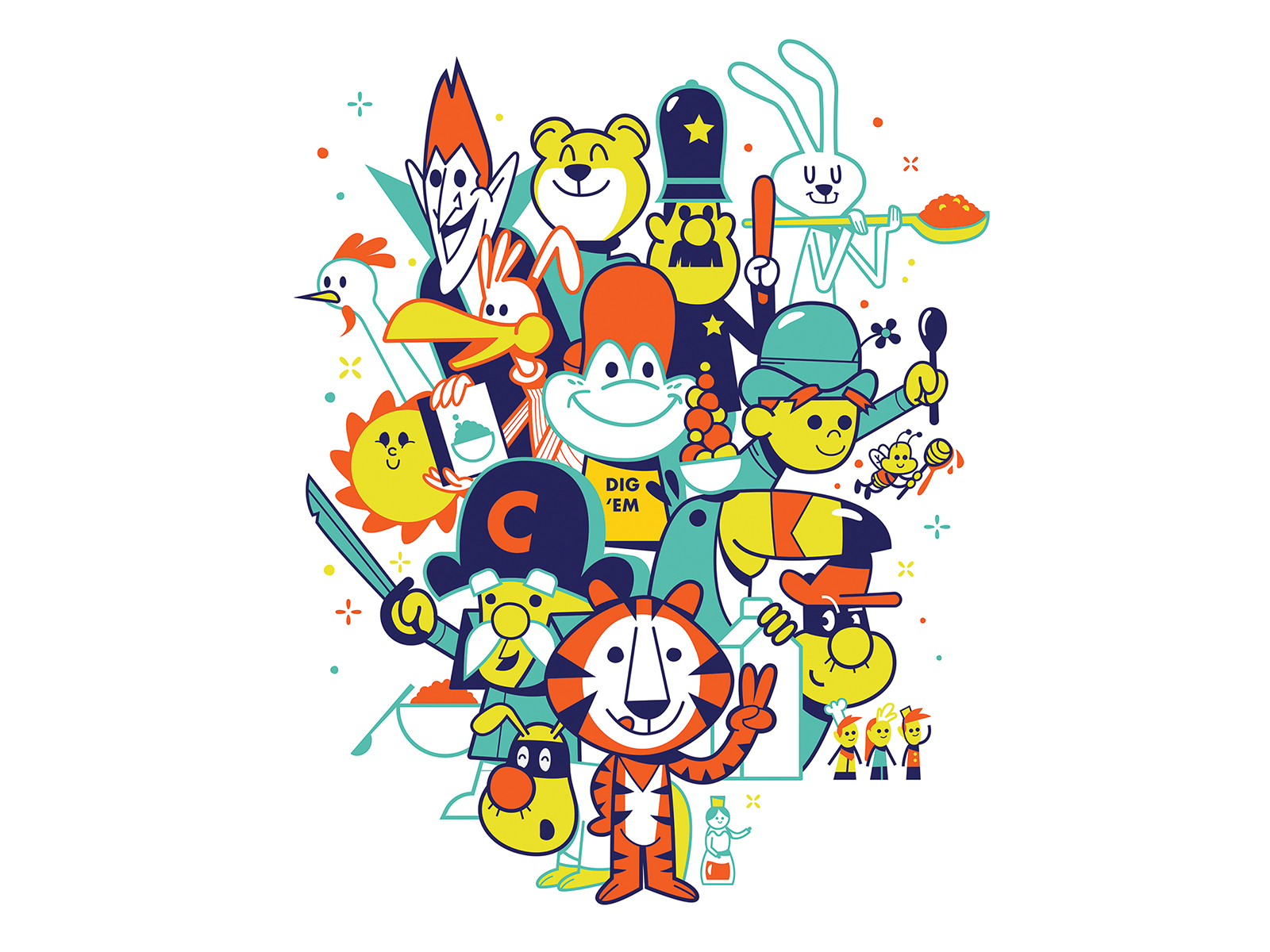 Cereal Mascots by Tony Bui on Dribbble