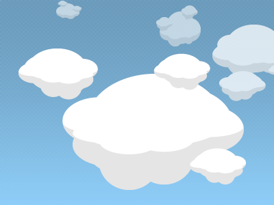 Head in the Clouds clouds rockets css3 experiments
