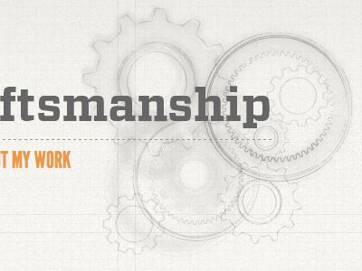 Creativity & Craftsmanship Updated orange illustration gears vitesse league gothic