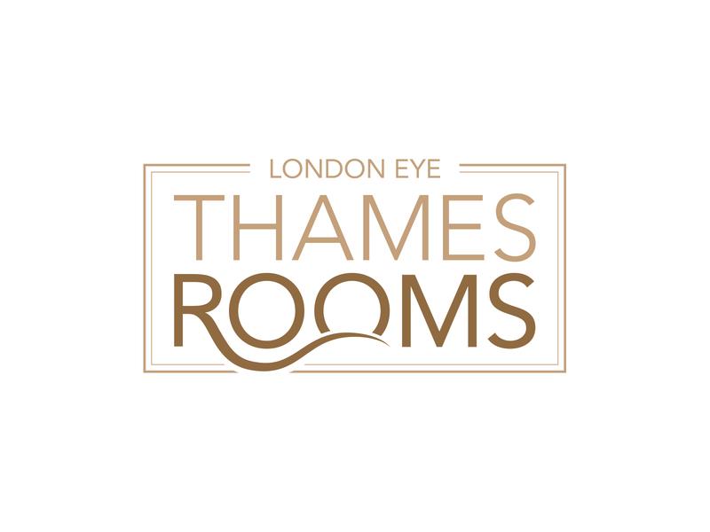 London Eye Thames Rooms london eye london river icon minimal illustration logo design design branding vector typography logo illustrator idea
