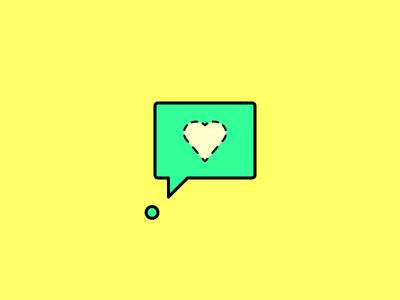 Heart heart speech bubble dot period dashed thought love minimalism minimal adobe illustrator cs6 illustration simple