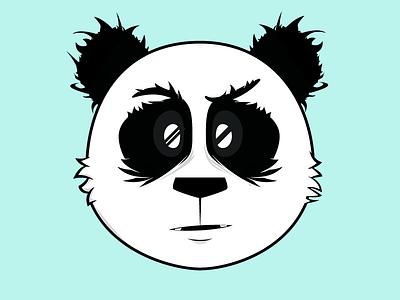 Panda Bear panda bear rawr eyes nose ears fur furry hair hairy animal creature character beast wild adobe illustrator cs6 illustration cartoon cute face adorable forest
