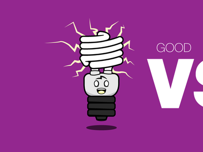 Gary the Happy Light Bulb light bulb good energy efficient illustration character cartoon cute glass glow monster