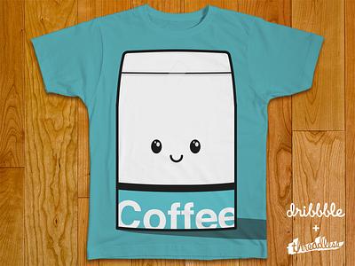 Happy Coffee Inc. threadless shirt clothing company coffee bean happy face character awesomeness illustration cartoon