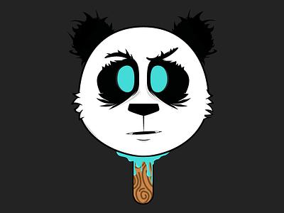Panda Sucker Sticker sticker mule animal panda sucker stick