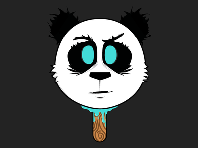 Panda Sucker Sticker
