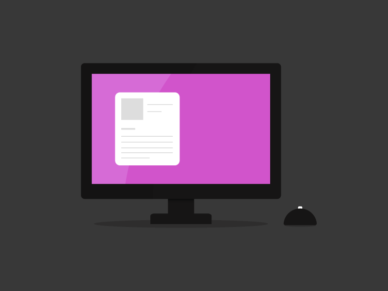 Monitor monitor desktop screen icon led mouse computer pc mac apple vector illustration
