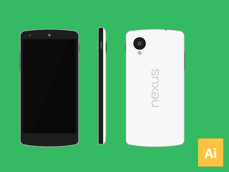Nexus 5 Vector (.Ai) google lg android nexus 5 nexus5 vector free freebie phone smartphone smart