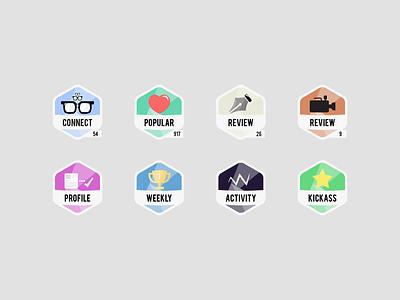 Appsting.com Badges appsting app icon badge popular star heart glasses profile startup pen video