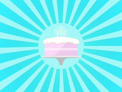 Birthday cake birthday cake celebration candle frosting card yummy food surprise sunburst fire wax
