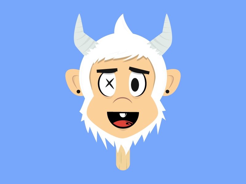 Frozen Yetisicle yeti wookie bigfoot popsicle head face animal cute illustration illustrator design character