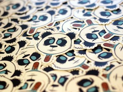 Panda Head Stickers
