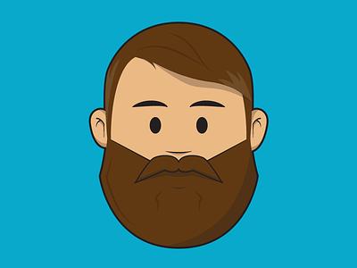 Avatar illustrator cartoon character head hair mustache flat awesome beard face illustration avatar