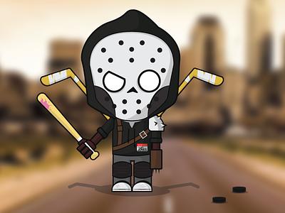 Casey Jones mutant teenage ninja turtles mask vector photo face flat avatar character tmnt illustration