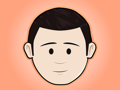 Jonathan Roy Avatar face eyes nose ears hair combed mouth chin guy boy man person people dude avatar portrait cartoon vector illustrator adobe cs6 illustration