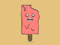Terrified Melting Ice Cream Guy