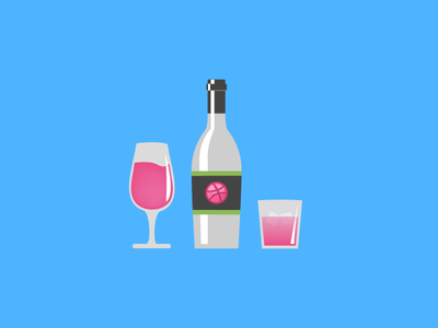 Dribbble Wine(.psd & .ai)