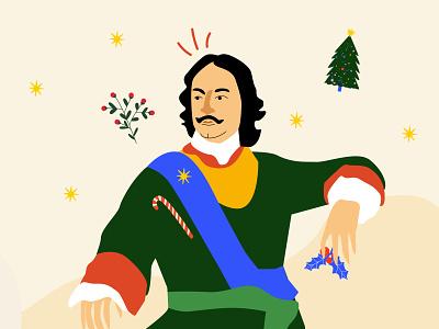 Peter the Great minimal vector illustration flat
