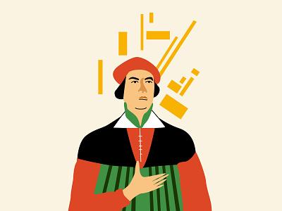 Kazimir Malevich branding design minimal vector flat illustration