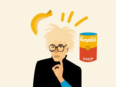 Andy Warhol branding design vector minimal illustration flat