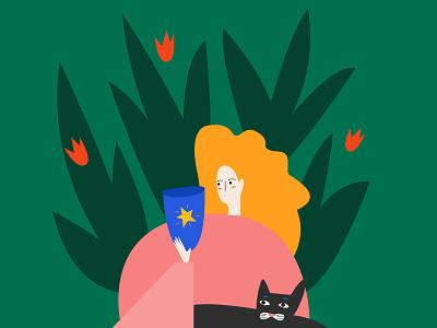 Sunday morning illustrator minimal vector illustration flat