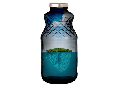 The island in the bottle