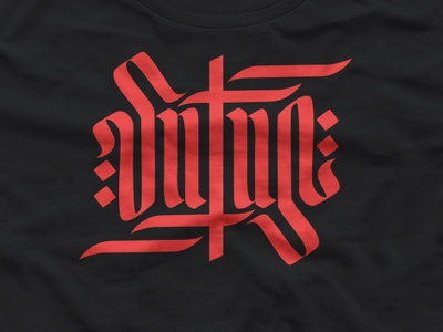 Satan beer hell satan ambigram red type typo design calligraphy lettering illustration mexico vector logo