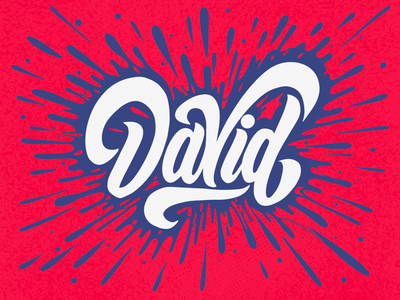 David lettering