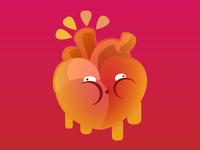 Heart  Full of Cholesterol