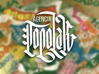 Popolak calligraphy typo lettering design pr agency politics politicians mexico logo