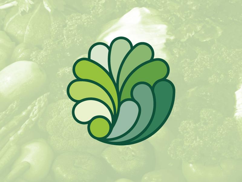Huertos Superiores verde empresa enterprise symbol green seeds grain wholegrain logo herbs vegetals orchards
