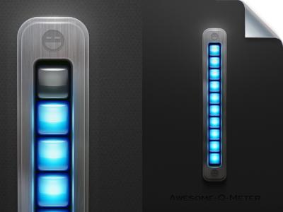 Awesome-O-Meter wallpaper screensaver illustrator awesomeness meter indicator wladza