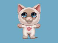 Cute huggy cat