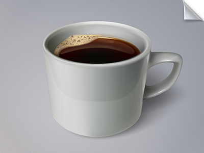A cup of coffee (fully vector) fully vector vector illustrator coffee gift illustration icon cup foam free download wladza