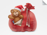 Teddy and the Santa's bag