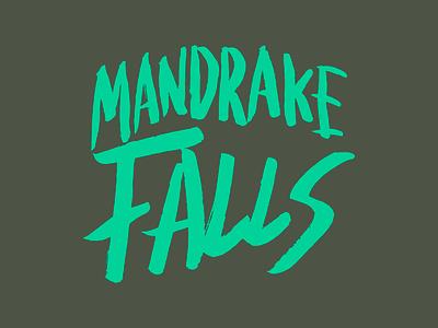 Mandrake Falls band logo branding logo music poppunk