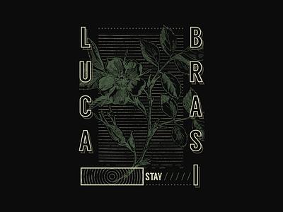 Luca Brasi Tour Merch 1 merch design band merch lines stripes flowers botanical floral merch band