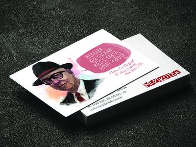 Business Card Design for Müzikotek
