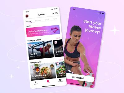 Fitness app sport mobile app ui mobile ui ios mobile app exercise app exercise training health app fitness club trainer gym workout load running uixu ui design mobile fitness app ui