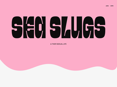 Slizni Website - Intro Animation flat typography student work ui transition landing simple pink vector illustration motion design webdeisgn website