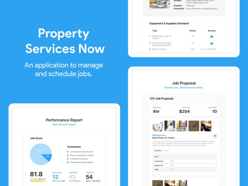 Property Services Now ux adobexd uidesign ux design uiux
