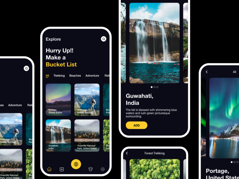 The Bucket List App ux design uidesign ux design uiux adobexd