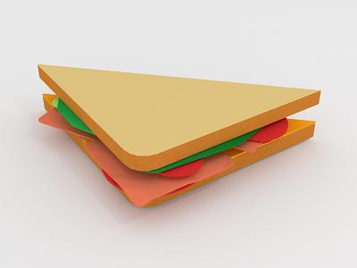 Low Poly Sandwich blender blender3d webkul sandwiches lowpoly 3dmodelling 3d