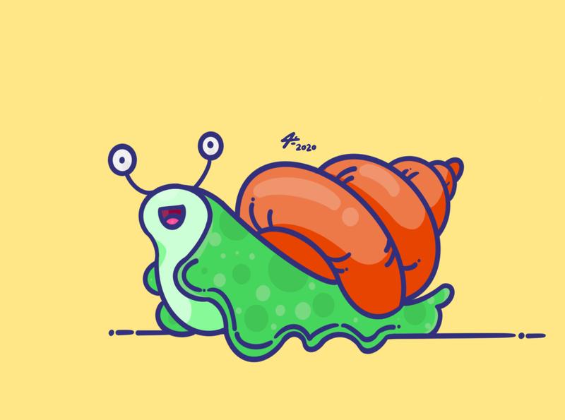 Snail logo illustrator toon illustration procreate sketchbook digitalart art draw snail logo drawing