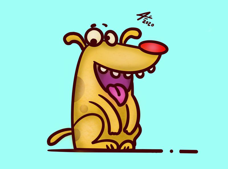 Bobby's dog toon cartoon vector digitalart illustration dog art sketchbook procreate draw drawing