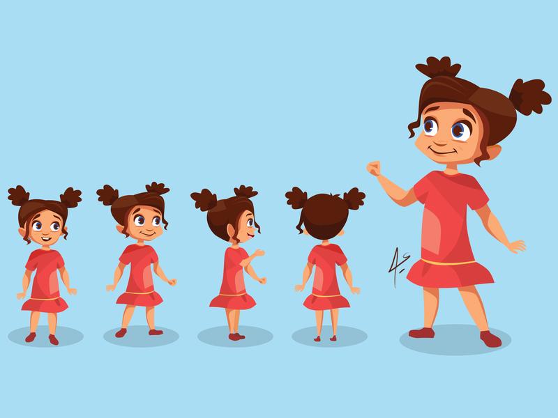 Cartoon Girl branding character digitalart digital illustrator animation vector illustration toon art girl cartoon girl draw cartoon drawing