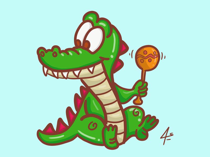 Crocodile illustrator sketch toon ilustration character ux branding typography sketchbook digital animation vector digitalart illustration drawing cartoon crocodile draw art