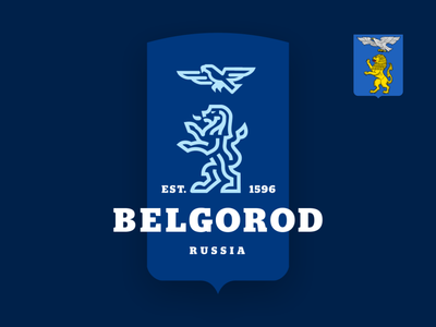 Coat of arms of Belgorod belgorod lion bird logo coatofarms