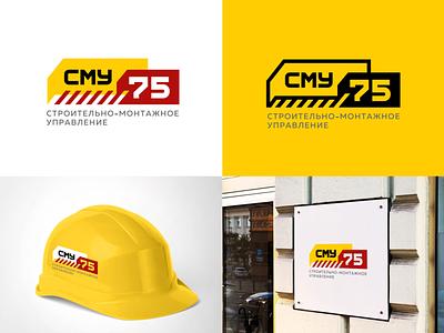 SMU-75 COMPANY LOGO helmet construction buliding logotype logo