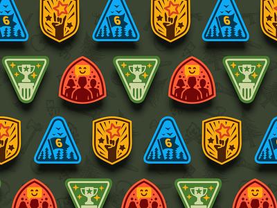 Badges Set branding outdoor badge icons icon